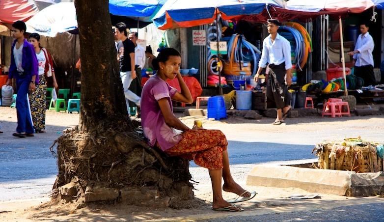 Il mercato di Yangon